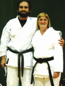 Carol Corbin with Sensei Drago