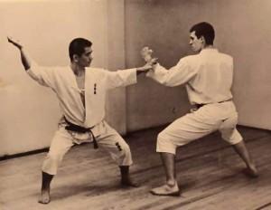 Sensei Zenko Heshiki with Sensei Drago