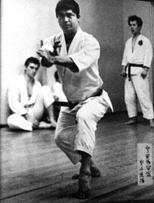 Ansei Ueshiro (Drago sitting at left) at the Satsuma Bushi Dojo in New York City in 1966.